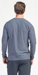 Rhone Reign Long Sleeve Midnight Heather