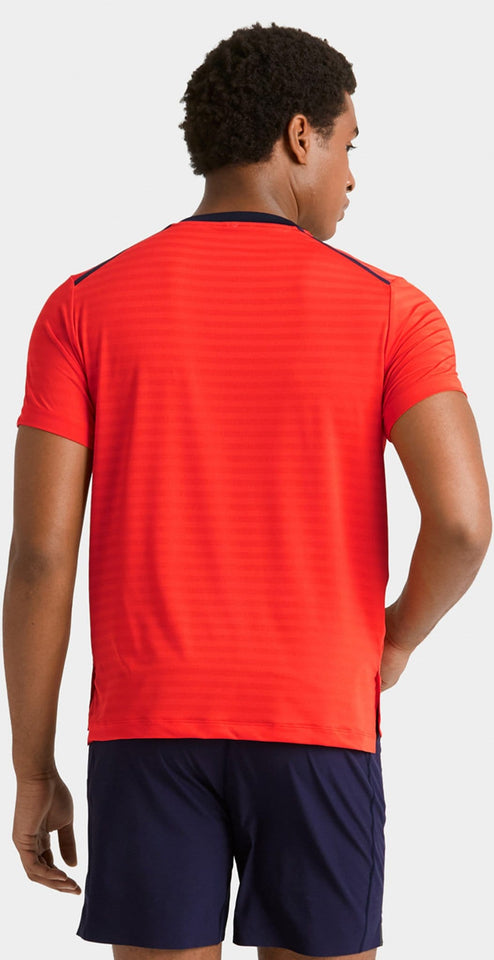 Rhone Swift Short Sleeve Mandevilla Red