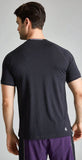 Fourlaps Short Sleeve Level Tee Black Heather
