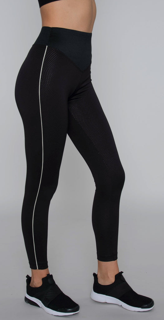 Koral Jagger High Rise Etch Legging Black