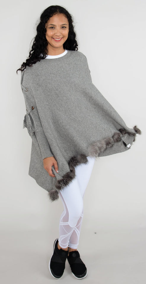 Mitchie's Matchings Lace with Grommets Wrap Gray