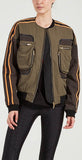P.E Nation Record Run Jacket Olive