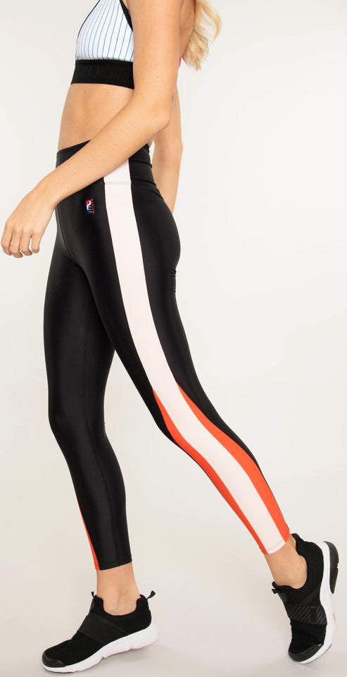 P.E Nation World Series Legging Black Multi