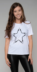 Lauren Moshi Croft Lightning Bolt Star White