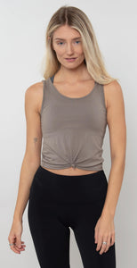 Onzie Knot Crop Top Dust