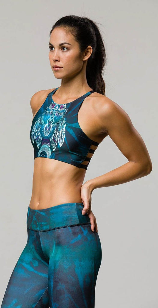 Onzie High Graphic Elastic Bra Mystic