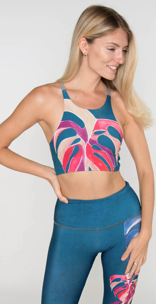 Onzie High Graphic Elastic Bra Boca