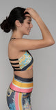 High Graphic Elastic Bra