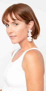 Shiraleah Fleur 3 Tier Earrings Blush