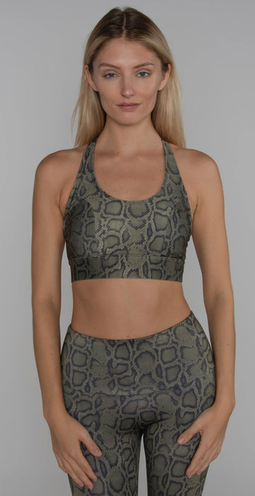 Onzie Warrior Bra Olive Cobra