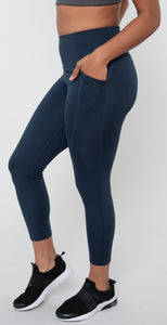 Girlfriend Collective High Rise Pocket Legging Midnight