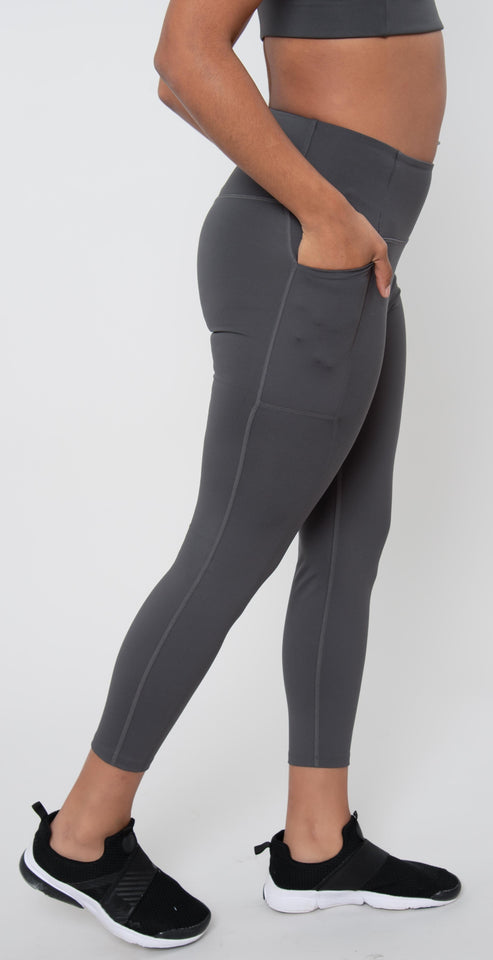 Girlfriend Collective High Rise Pocket Legging Moon