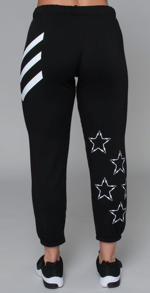 Lauren Moshi Alana Lightning Bolt Star Black