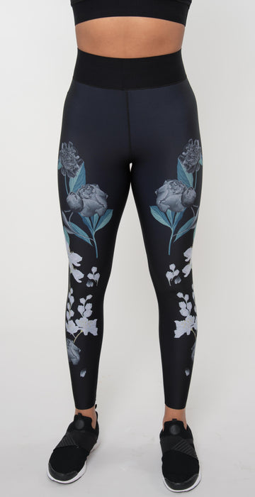 Ultracor Flower Bomb Ultra High Legging Charcoal Print Graphite