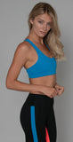 Splits59 Crossover Bra Neon Blue