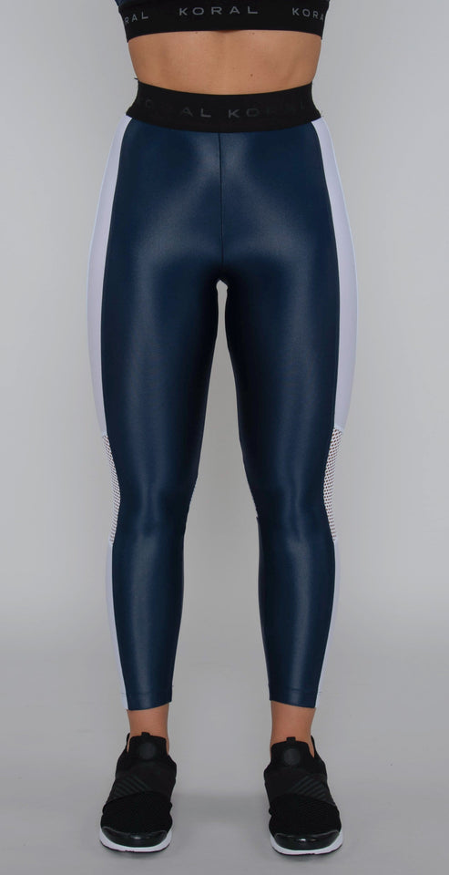 Koral Emblem Infinity High Rise Cropped Legging Midnight Blue