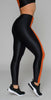 Koral Teazer High Energy Legging Black and Jasper Orange