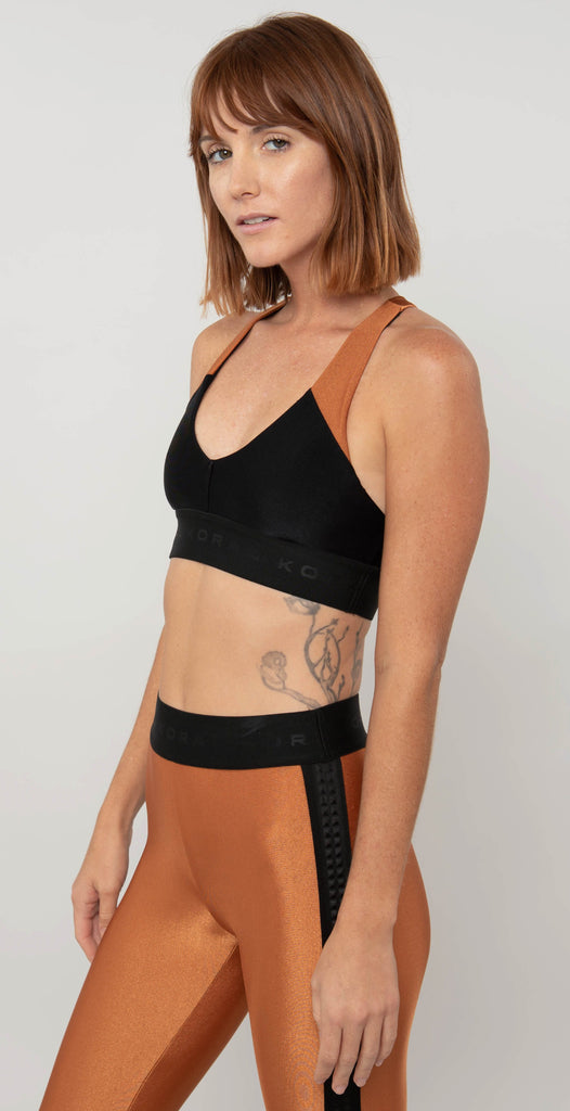 Koral Bunji Sprint Sports Bra Black Sunstone
