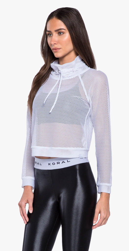 Koral Pump Open Mesh Pullover White