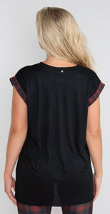 Ultracor Swarovski London Calling Rolled Tee Red Jet Hematite