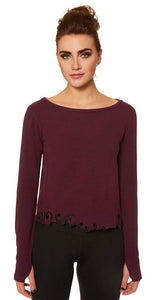 Nancy Rose Amalie Sweatshirt Sangria