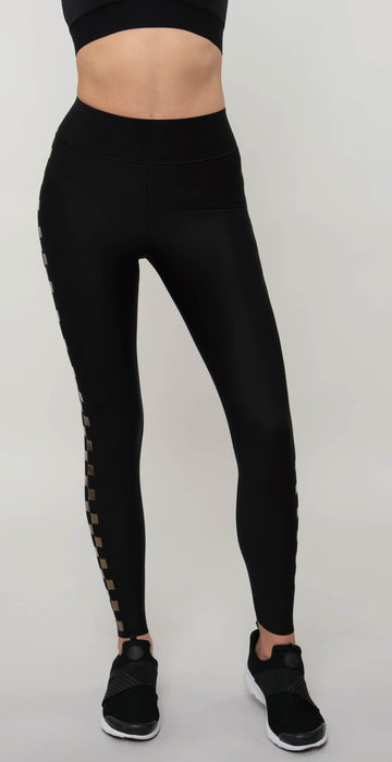 Ultracor Ultra High Checkmate Legging Nero IR Gold Neig