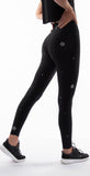 Ultracor Sprinter High Swarovski Starflower Legging Nero Chrome