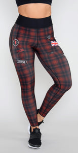Ultracor Ultra High Westwood Legging Red Textured Nero