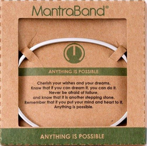 Anything Is Possible Mantraband Silver