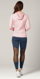 Lorna Jane Ava Active Hooded Zip Through Whisper Pink Marl
