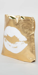 Santa Barbara Kiss Tote Bag Gold