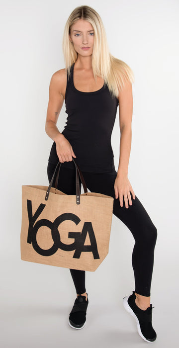Santa Barbara Yoga Jute Bag