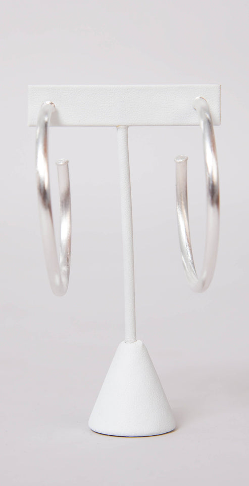 Sheila Fajl Everybody's Favorite Hoops Brushed Silver Plated