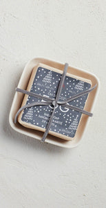 Mer-Sea & Co Bar Soap In Ceramic Dish Fog