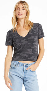 Z Supply The Classic Skimmer Tee Camo Dark Charcoal