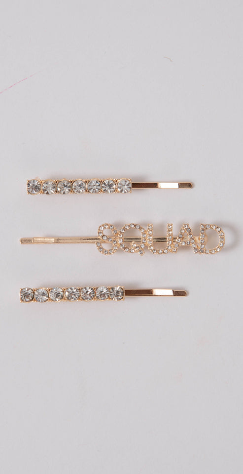 Dainty Ivy Squad Hair Pin Set Gold