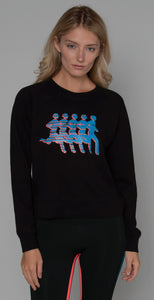 Splits59 Tilda Sweatshirt Black Neon Multi