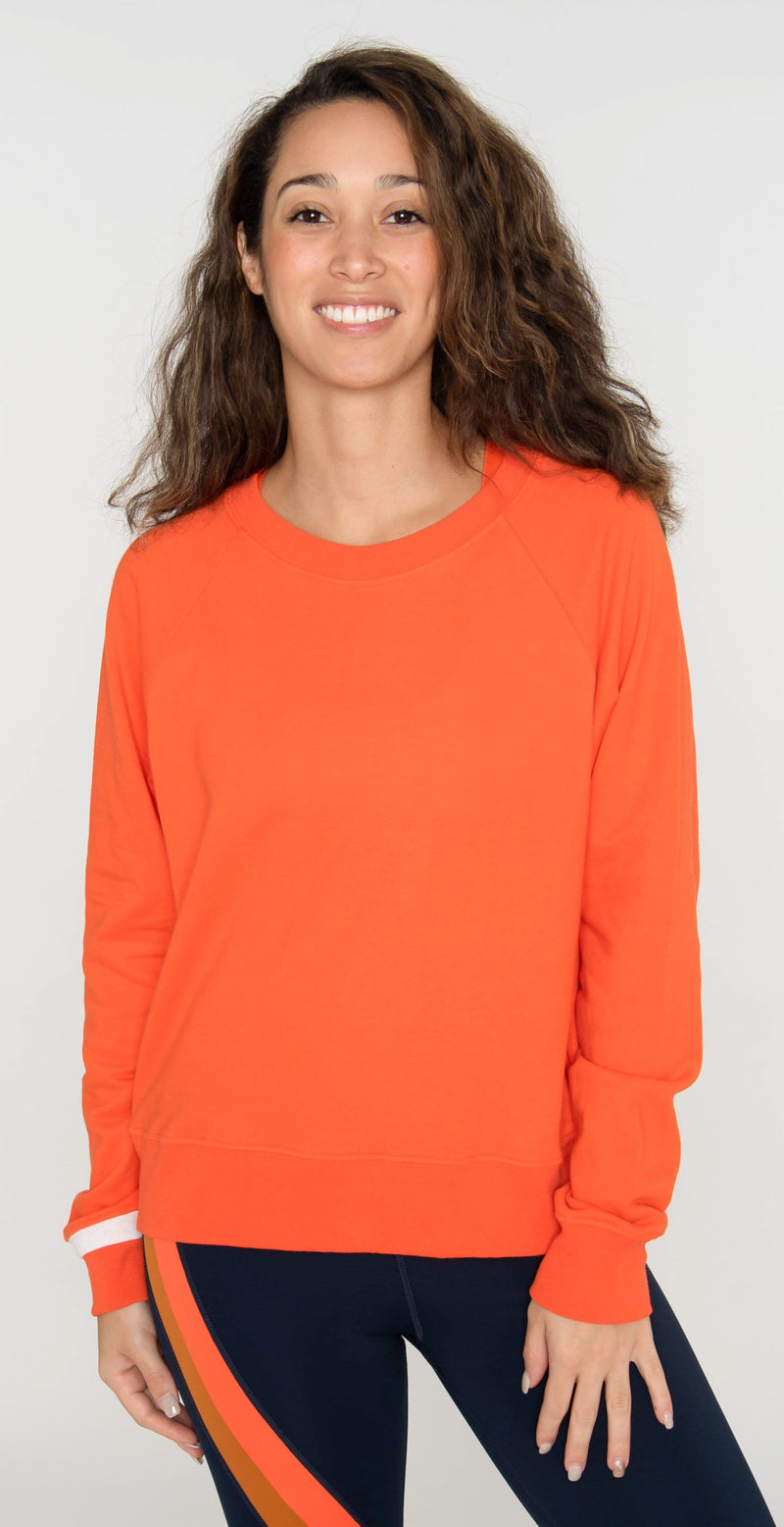 Splits59 Cleo Sweatshirt Orange/Off White
