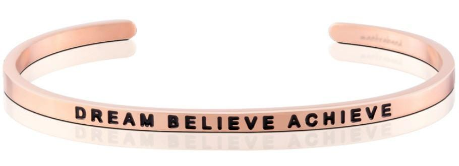 Mantraband® Dream Believe Achieve Rose Gold