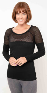 Lorna Jane Valley Long Sleeve Top Black