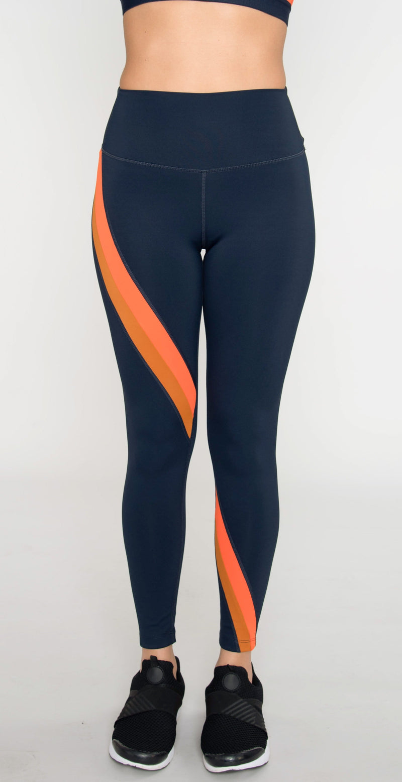 Splits59 Bella High Waist 7/8 Legging Indigo/Orange Multi