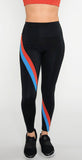 SPLITS59 Bella High Waist 7/8 Tight Black/Crimson Multi