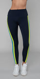 Splits59 Dakota High Waist Tight Indigo/Neon Multi