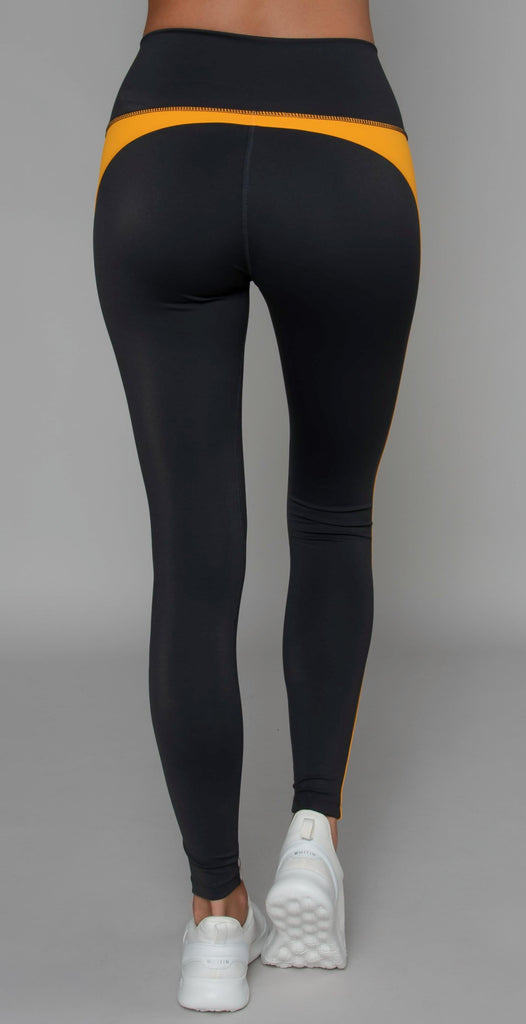 Splits59 Freestyle High Waist Tight Charcoal/Stone Embossed