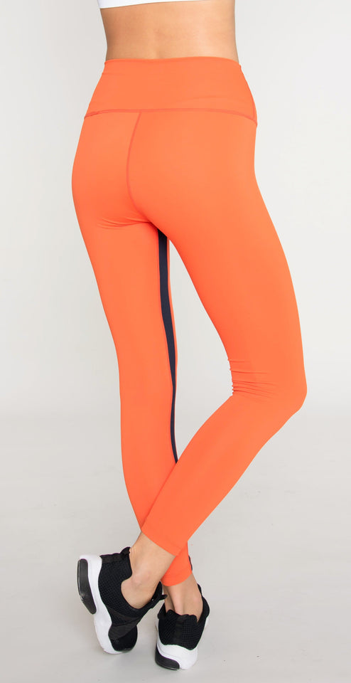 Splits59 Aerial II High Waist 7/8 Legging Orange/Indigo Multi