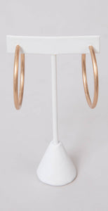 Dainty Ivy 50mm Open Hoops Matte Gold