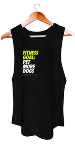 Puppies Make Me Happy Fitness Goal: Pet More Dogs Black