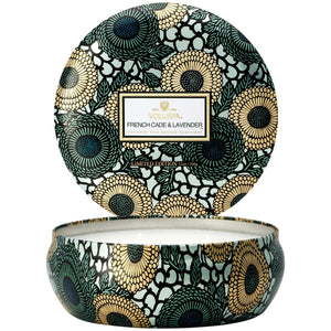 Voluspa French Cade & Lavender 3 Wick Tin Candle