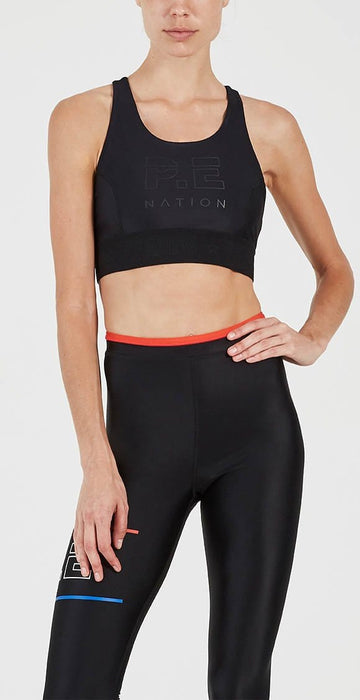 P.E Nation Groundstroke Crop Black