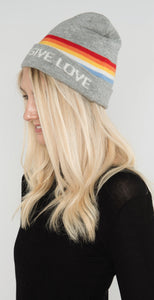 Spiritual Gangster Give Love Beanie Heather Gray